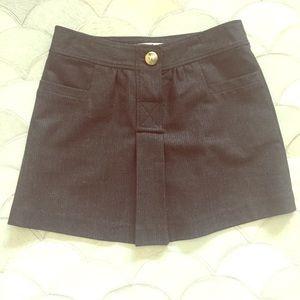 Gray Tibi Pinstripe Miniskirt with Pockets
